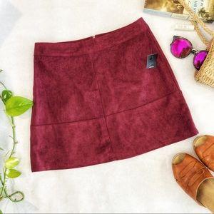 Lulu's Shenandoah Faux Suede Skirt Size XS NWPT